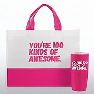 Tumbler and Tote Value Gift Set - 100 Kinds Of Awesome