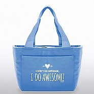 Color Pop Value Cooler Tote - I Do Awesome! - Blue