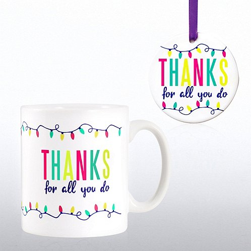 Cheerful holiday gift set thanks for all you do at Thanks for all you do gifts