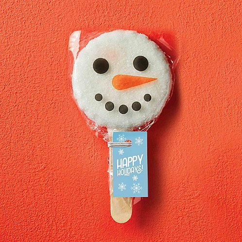 Cookie Pops - Snowman Happy Holidays