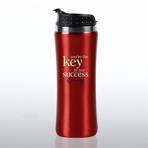 Elite Stainless Steel Travel Tumbler - Key to Success