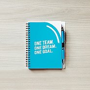 Color Pop Value Journal & Pen - 1 Team 1 Dream 1 Goal