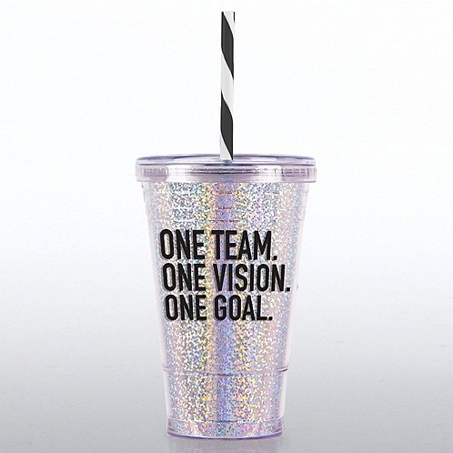 Glitter Tumbler One Team One Vision One Goal At