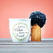 Pretty Pom Mom Mug - First My Mother, Forever My Friend