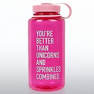 Nalgene Wide Mouth Water Bottle- You're Better Than Unicorns