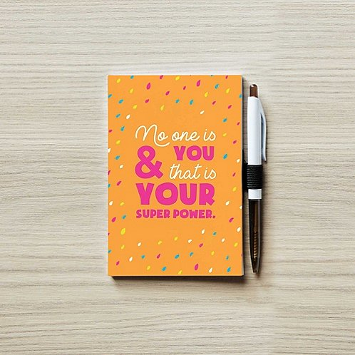 Colorific Value Journal & Pen Set- No One is You: Superpower
