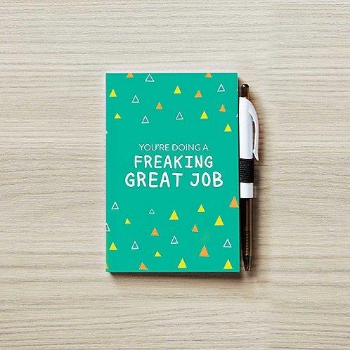 Colorific Value Journal & Pen Set - Freaking Great Job!