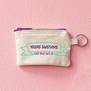 Hipster Card Carrier - You're Awesome: Keep That Sh!t Up