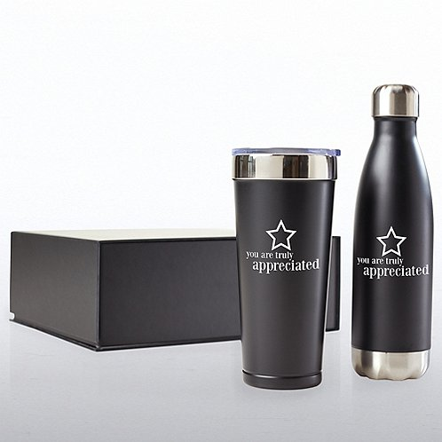 Executive Drinkware Gift Set - You Are Truly Appreciated