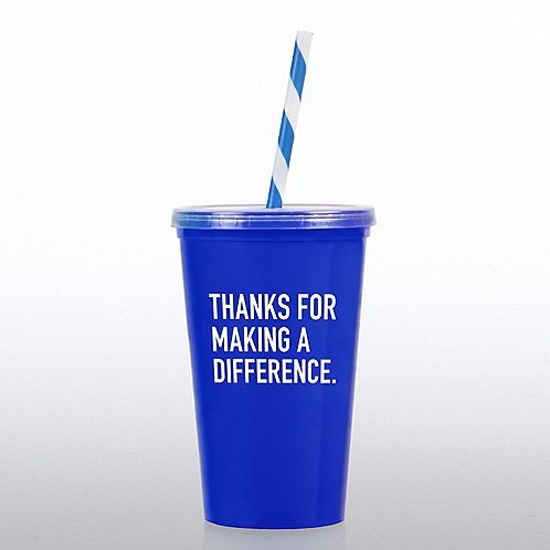 Value Tumbler W/ Candy Straw - Thanks for MAD