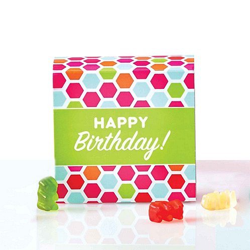 Beary Good Candy-Filled Box - Happy Birthday!