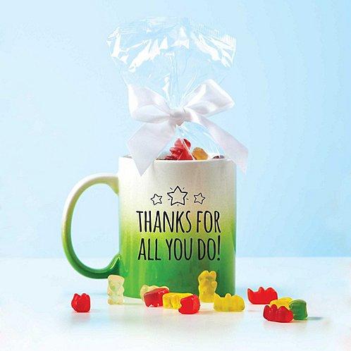 Gummy Mug Gift Set - Thanks For All You Do
