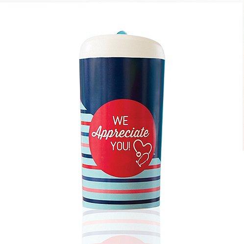 Pop-Top Water Bottle - We Appreciate You Stethoscope