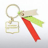 Lovely Leatherette Key Chain - You Are Truly Appreciated