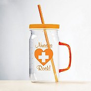 Nurse Mason Jar Value Tumbler - Nurses Rock!