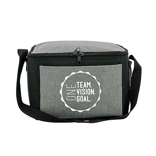 Heathered Lunch Cooler Tote - One Team. Vision. Goal.
