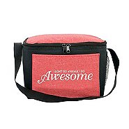 Heathered Lunch Cooler Tote- I Don't Do Average I Do Awesome