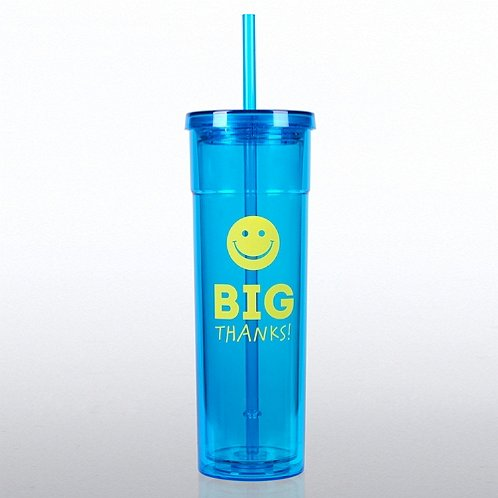 Bright Tumbler - Positively Awesome - Big Thanks
