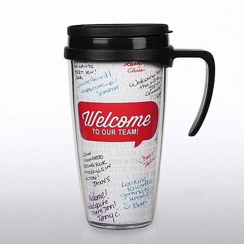 Autograph Travel Mug - Welcome to Our Team!