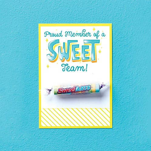 Candy Coated Cards - Proud Member of a Sweet Team!