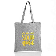 Heathered Tweed Metallic Tote - You Are Gold. Solid Gold.