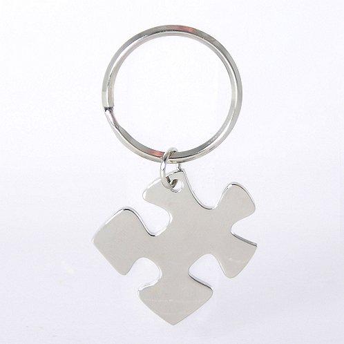 Nickel-Finish Key Chain - Essential Piece