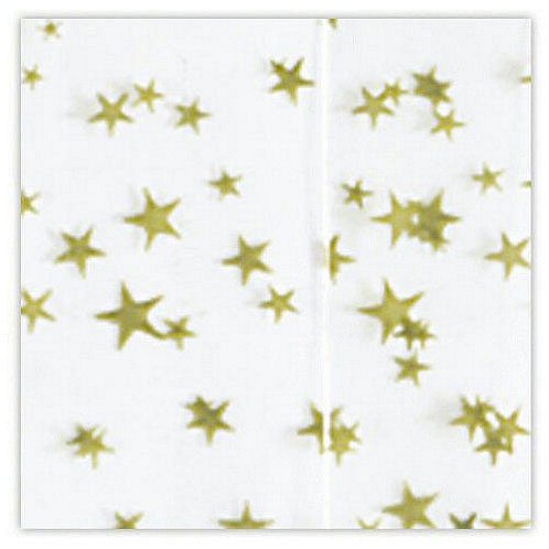 Tissue Paper - White w/ Gold Stars