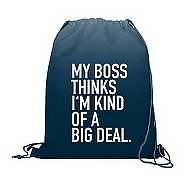 Value Ombre Drawstring Backpack - My Boss Thinks...