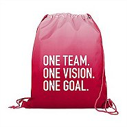 Value Ombre Drawstring Backpack - One Team. One Vision.