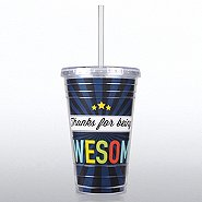 Twist Top Tumbler - Thanks for Being Awesome