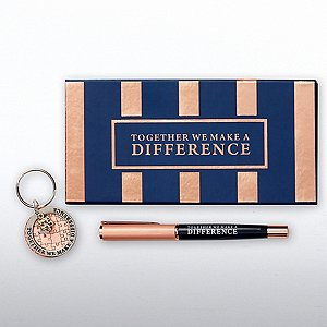 Charming Copper Gift Set - Together We Make a Difference