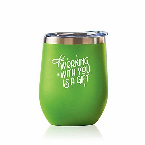 Bright Spirits Beverage Tumbler - Working with You is a Gift