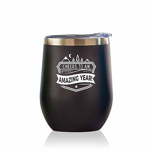 Bright Spirits Beverage Tumbler - Cheers to an Amazing Year