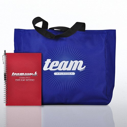 Journal, Pen & Tote Gift Set - Teamwork Makes the Dream Work