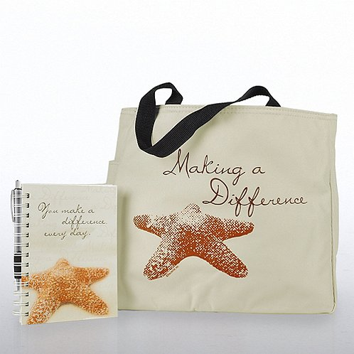 Journal, Pen & Tote Gift Set - Starfish: Making a Difference