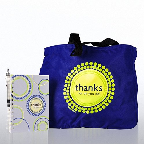 Journal pen tote gift set thanks for all you do at Thanks for all you do gifts