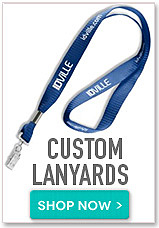 Create custom lanyards. Shop now button