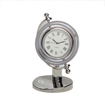 Copernicous Silver Desk Clock