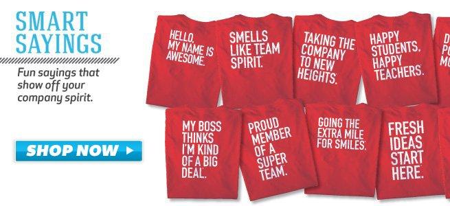 43ce2c302 Baudville Smart Saying Custom T-Shirts Smart Sayings: Baudville's fun ...