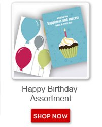 Happy Birthday Assortment. Shop now button