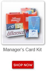 Manager's Card Kit. Shop now button