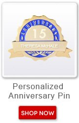 Personalized Anniversary Pin. Shop now button