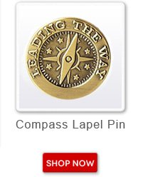 Compass Lapel Pin. Shop now button
