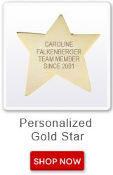 Personalized Gold Star. Shop now button