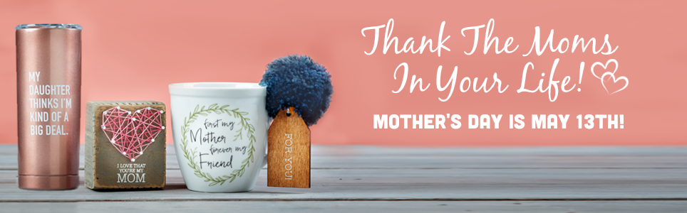 Unique Mothers Day Gifts: Wreathe Mug, String Art and Stainless Steel Travel Mug