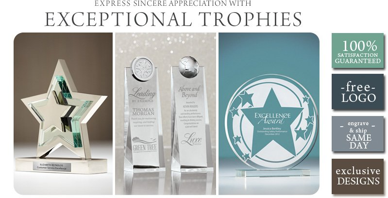 Express sincere appreciation with exceptional trophies.