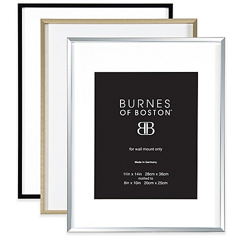 Burnes of Boston 8-Inch x 10-Inch Metal Matted Picture Frame - Bed ...
