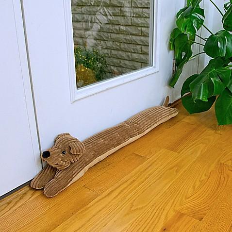 Corduroy dog draft blocker bed bath beyond - Dog door blocker ...