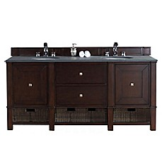 image of James Martin Furniture Madison 72-Inch Double Vanity Collection in Burnished Mahogany