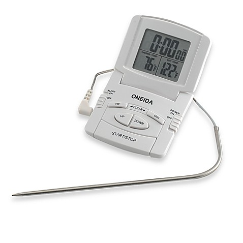 Oneida 174 Digital Probe Cooking Thermometer With Timer Bed